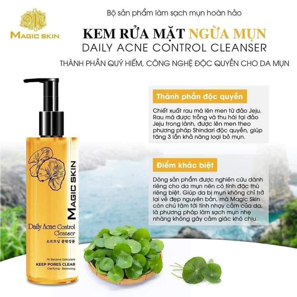 Kem rửa mặt ngừa mụn Magic Skin